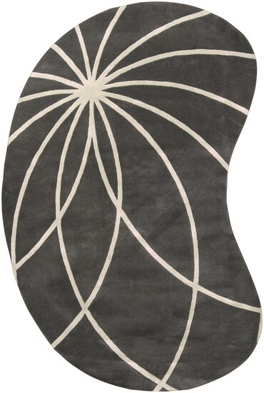 Dewald Iron Ore/Antique White Area Rug by Ebern Designs