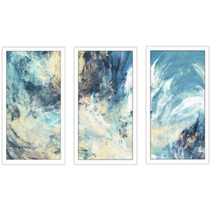 Feeling Blue 3 Piece Framed Painting Print Set by Picture Perfect International