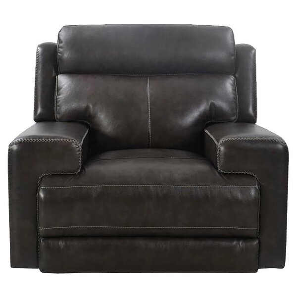 Ileana Leather Power Recliner By Latitude Run