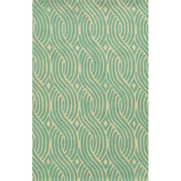 Algeciras Hand-Tufted Green Area Rug by Meridian Rugmakers