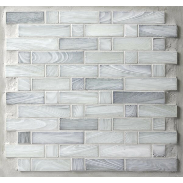 Homespun 12 x 12 Glass Mosaic Tile in Gray by Avenue Mosaic