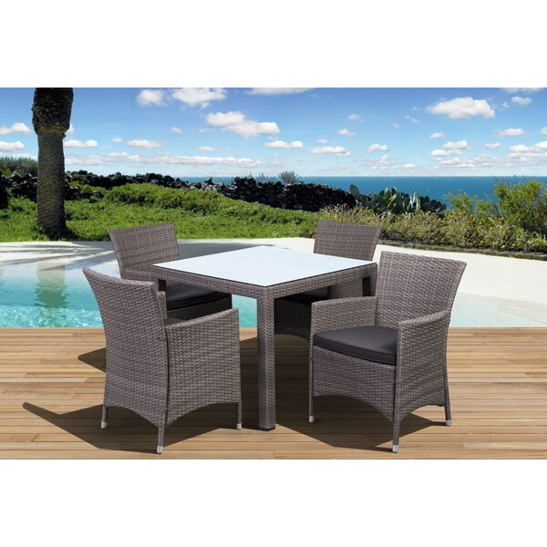 Finola 5 Piece Dining Set with Cushions by Beachcrest Home
