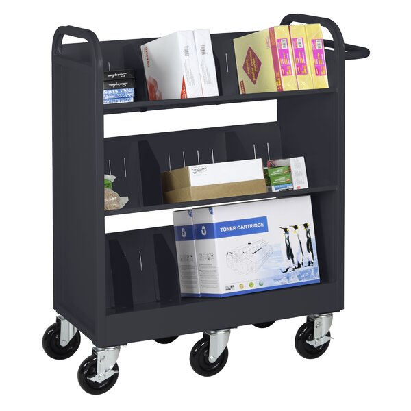 Endurance Sloped-Shelf Book Cart by Sandusky Cabinets