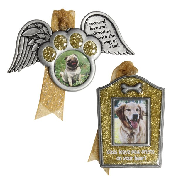 2 Piece Dog Remembrance Ornament Set by The Holiday Aisle