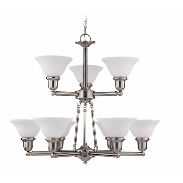 Harrisburg 9 - Light Shaded Tiered Chandelier by Charlton Home Charlton Home