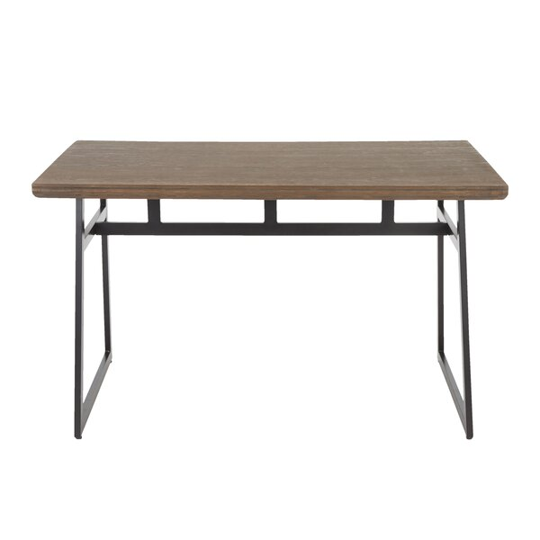 Platane Industrial Solid Wood Dining Table by Brayden Studio