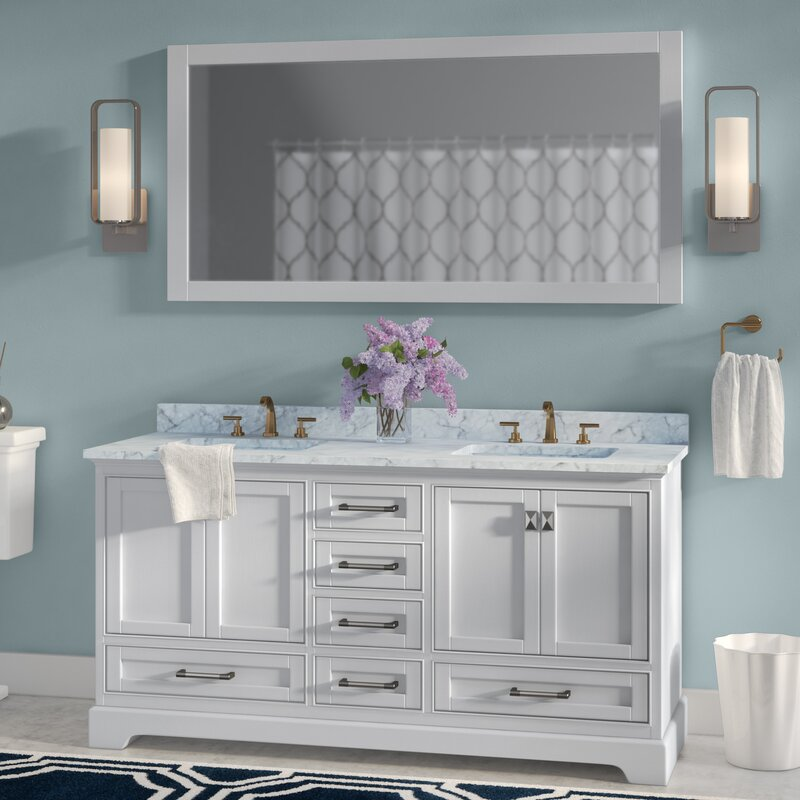 Stian 60\ Mirrored Bathroom Vanity With Sink