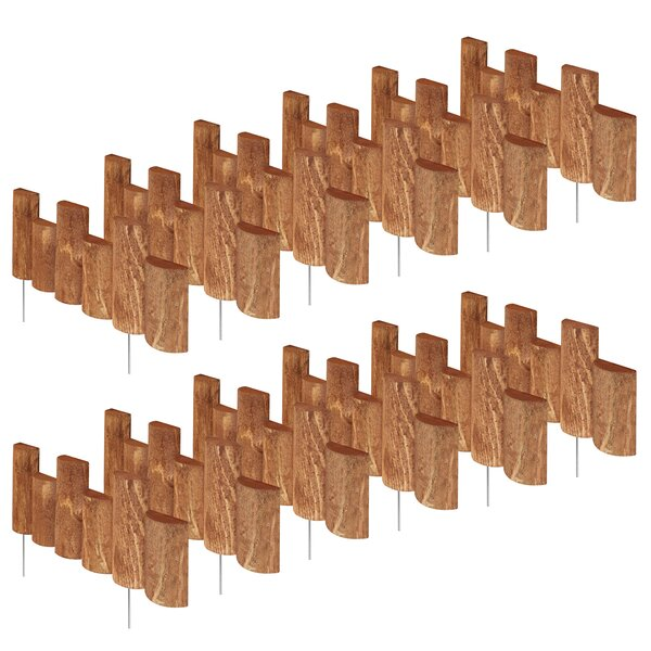 7 in. H x 18 in. W 12 Pack Half Log Edging (Set of 12) by Greenes Fence