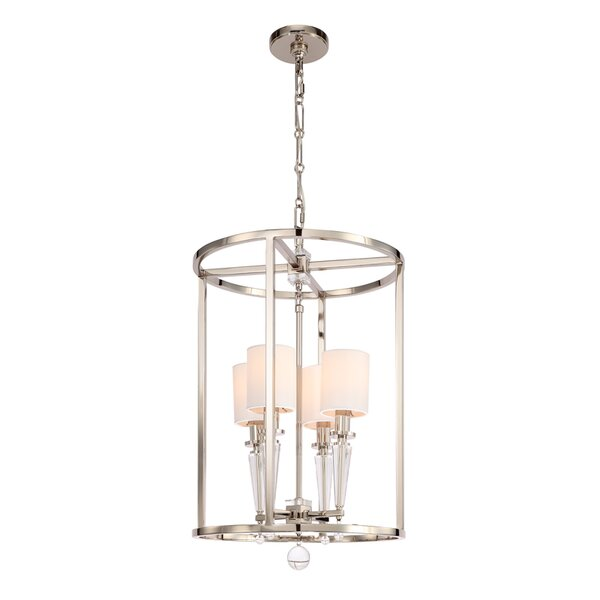 Gehl 4-Light Shaded Geometric Chandelier by Everly Quinn Everly Quinn