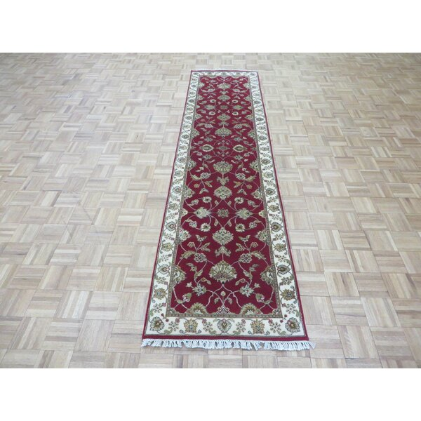 One-of-a-Kind Josephson Hand-Knotted Wool Red Area Rug by Canora Grey