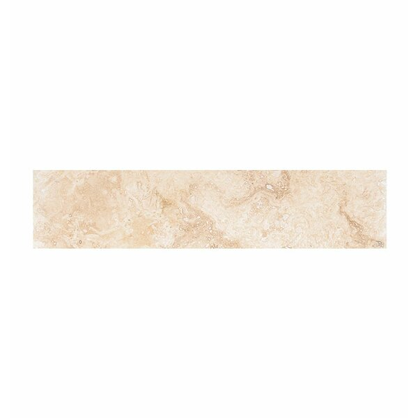 18 x 4 Travertine Field Tile in Ivory Honed by Parvatile