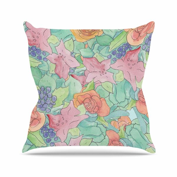 Catherine Holcombe Southwestern Floral Outdoor Throw Pillow by East Urban Home
