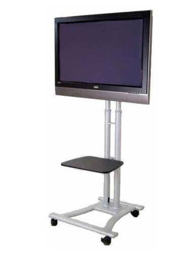 Mobile LED LCD Flat Panel HDTV Fixed Floor Stand Mount for 27-60 LCD Screens by MonMount