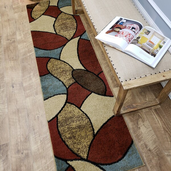 Pasha Maxy Home Oval Tiles Contemporary Area Rug by Rugnur