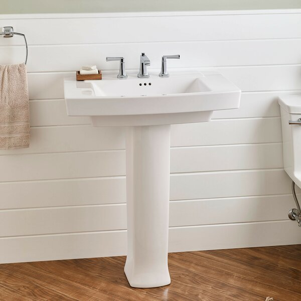Townsend 30 Pedestal Bathroom Sink with Overflow b