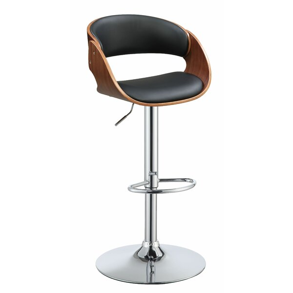 Burntwood Adjustable Height Bar Swivel Stool by Corrigan Studio