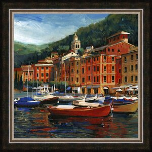 Italian Village I Framed Painting Print by Ashton Wall Décor LLC