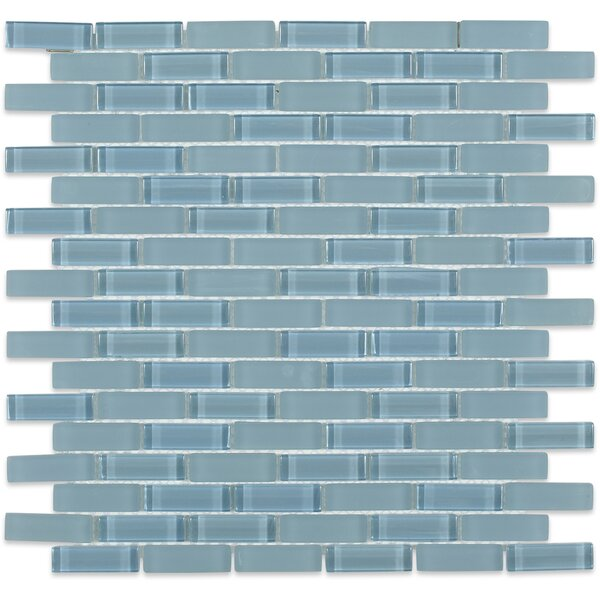 Contempo 0.6 x 2 Glass Mosaic Tile in Blue by Splashback Tile