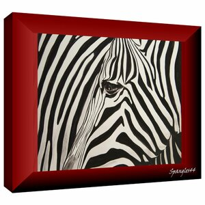 'Zebras Abstract' by Lindsey Janich Graphic Art on Wrapped Canvas by ArtWall
