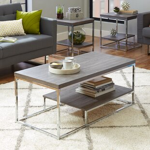 Philippos 3 Piece Table Set & Coffee Table Sets You\u0027ll Love | Wayfair