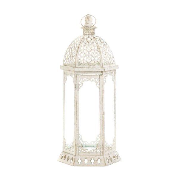Graceful Iron and Glass Lantern by Zingz & Thingz