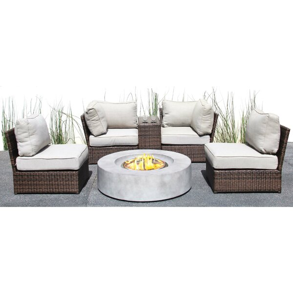 Vasil 6 Piece Sectional Seating Group with Cushions