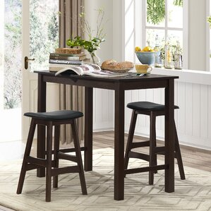 claycomb 3 piece counter height pub table set