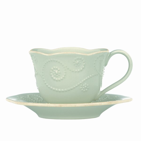 French Perle 8 oz. Cup and Saucer by Lenox