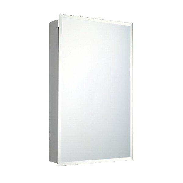 Otelia Door Surface Mount Frameless Medicine Cabinet with 4 Adjustable Shelves