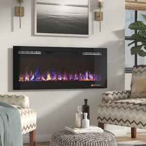 DeMotte Wall Mounted Electric Fireplace