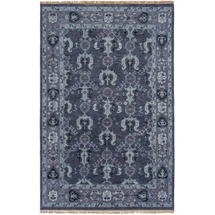 Great choice Orland Hand-Knotted Dark Purple Area Rug By Red Barrel Studio