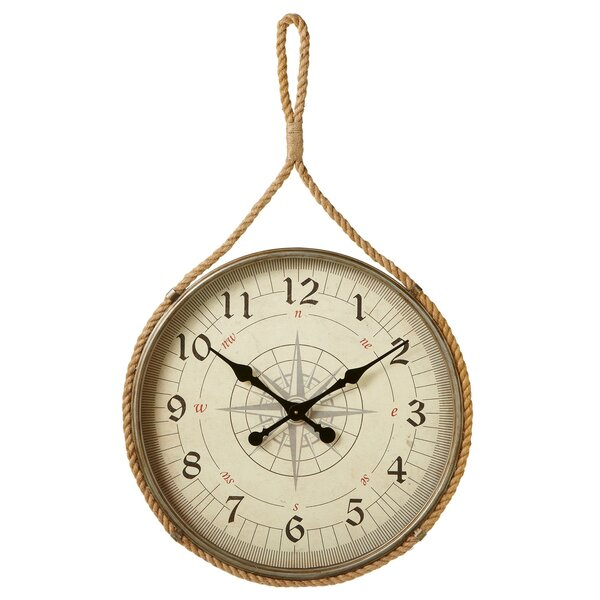 Oversized Weitzman Compass 25.25 Wall Clock by Breakwater Bay