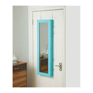 Ahern Over The Door Jewelry Armoire with Mirror by Ebern Designs