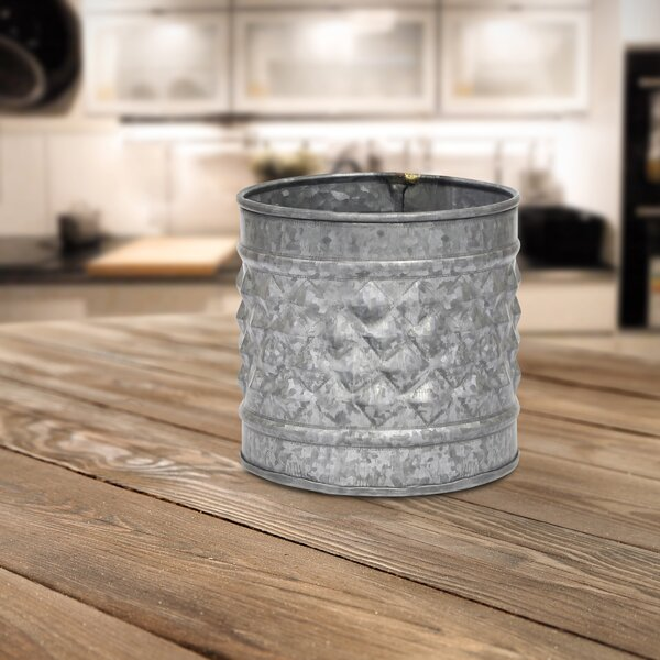 Mclemore Galvanized Metal Pot Planter by Williston Forge
