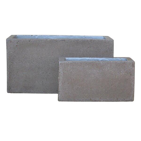 2-Piece Stone Planter Box Set by BIDKhome