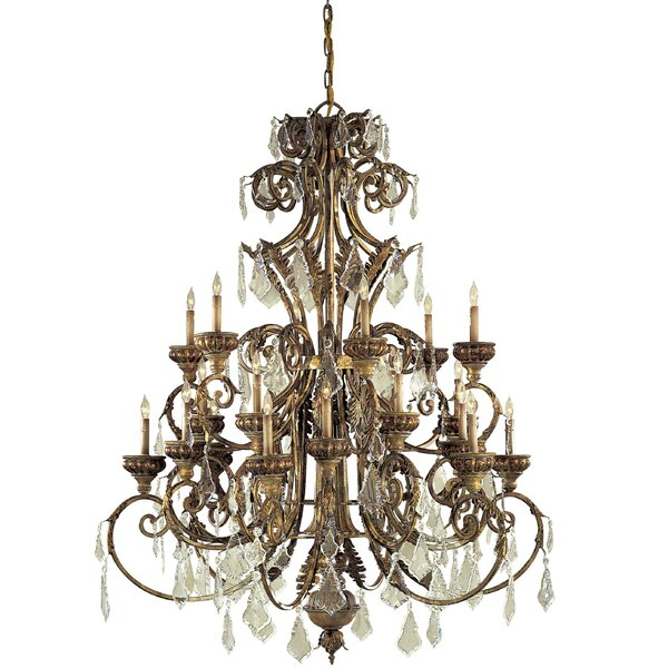 24-Light Candle Style Tiered Chandelier by Metropolitan by Minka Metropolitan by Minka