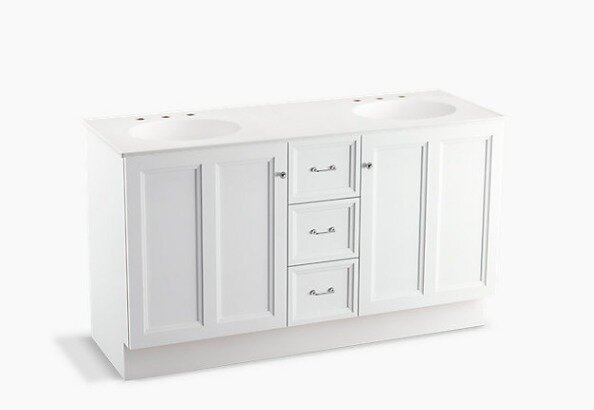 Damask™ 60 Vanity with Toe Kick, 2 Doors and 3 Drawers by Kohler