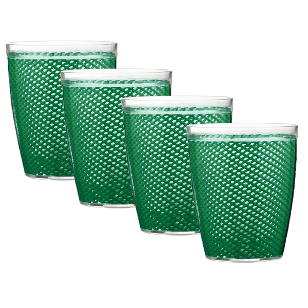 Adelyte 14 oz. Plastic Every Day Glass (Set of 4) by Highland Dunes