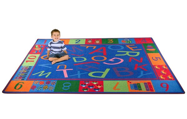 Alphabet and Numbers Teaching Toddler Area Rug by Kid Carpet