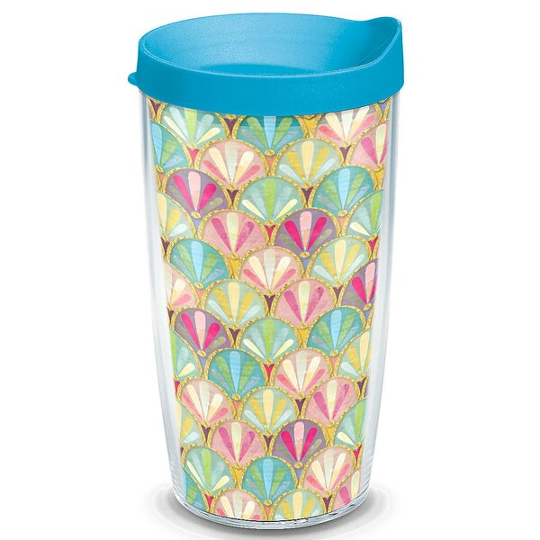 Sun and Surf Mermaid Scallop Plastic Travel Tumbler by Tervis Tumbler