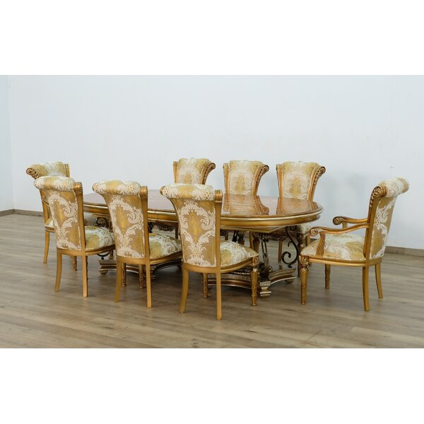 Baltasar 9 Piece Extendable Solid Wood Dining Set