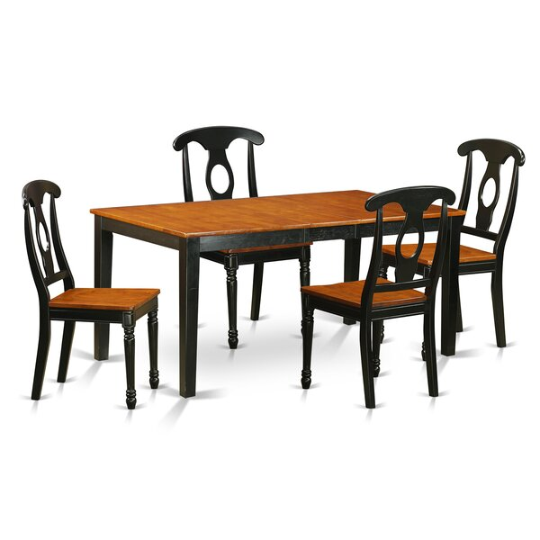 Cleobury 5 Piece Wood Dining Set By August Grove