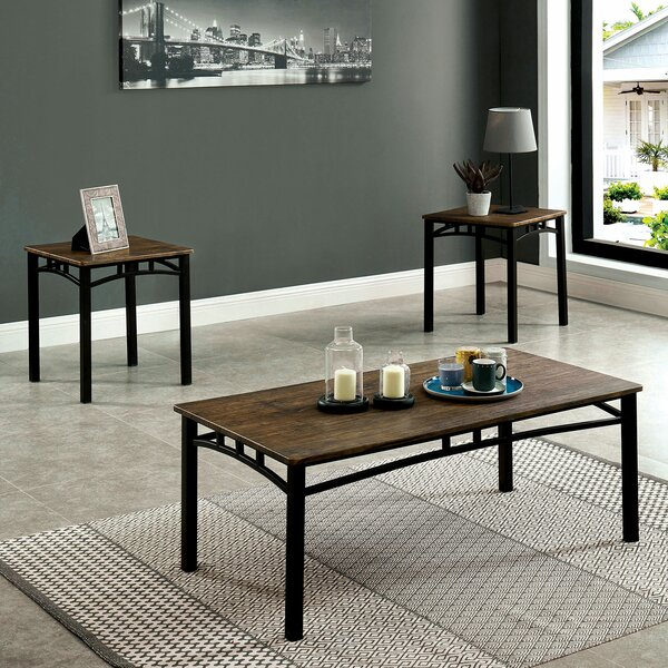 Colgan 3 Piece Coffee Table Set by Millwood Pines Millwood Pines