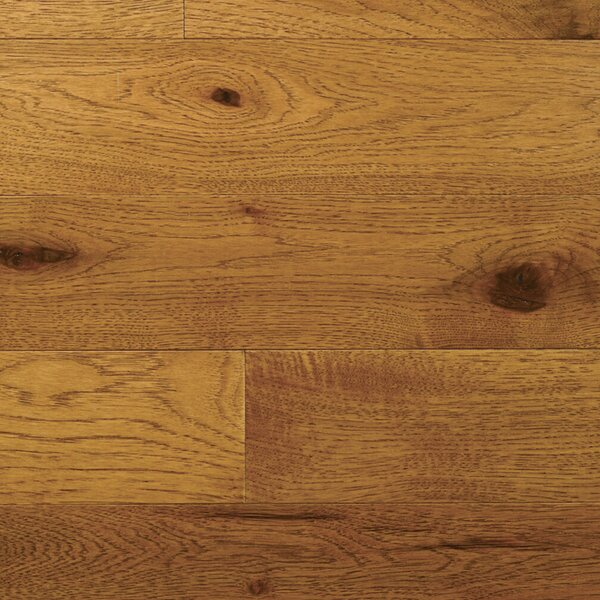 Character 5 Solid Hickory Hardwood Flooring in Saddle by Somerset Floors