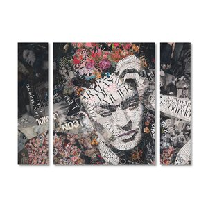 'Armas de Mujer' by Ines Kouidis 3 Piece Graphic Art on Wrapped Canvas Set by Trademark Fine Art