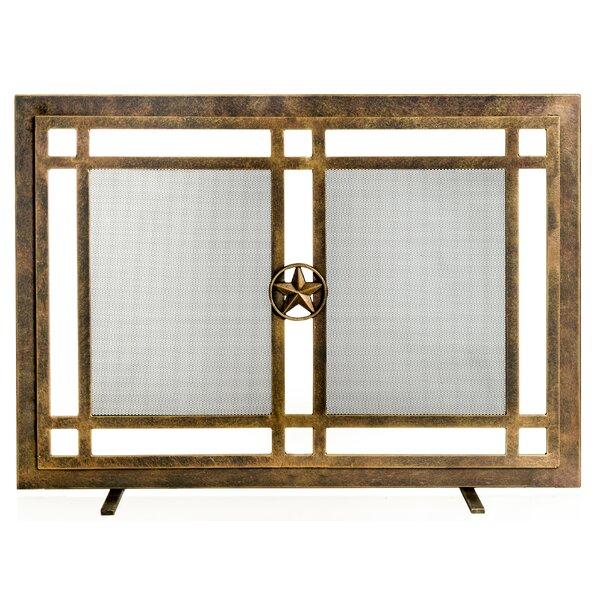 Belisario Single Panel Steel Fireplace Screen by Ornamental Designs