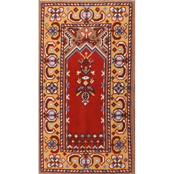 One-of-a-Kind Myrie Oriental Hand-Knotted Wool Red/Burgundy Area Rug by Astoria Grand