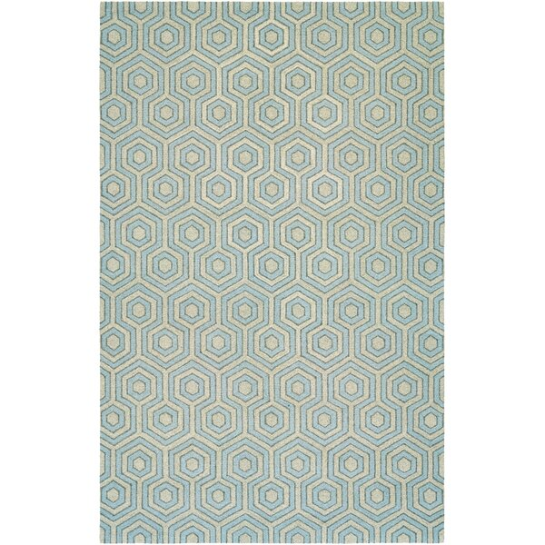 Atticus Hand-Woven Gray/Blue Area Rug by Corrigan Studio