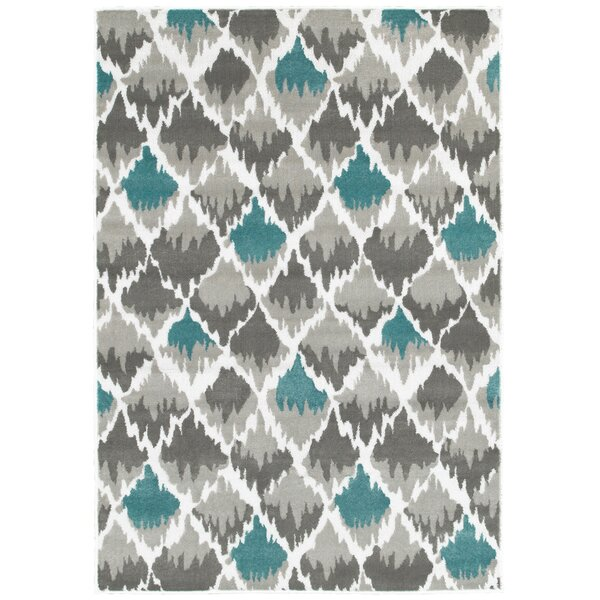 Grace Gray/Light Blue Area Rug by Zipcode Design