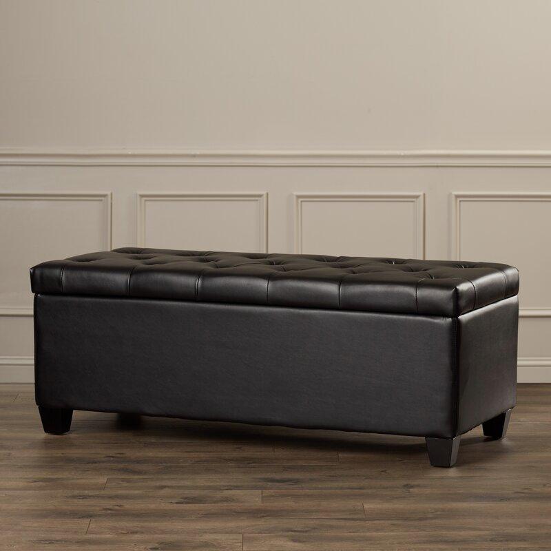Elegant Charlotte Leather Storage Bench